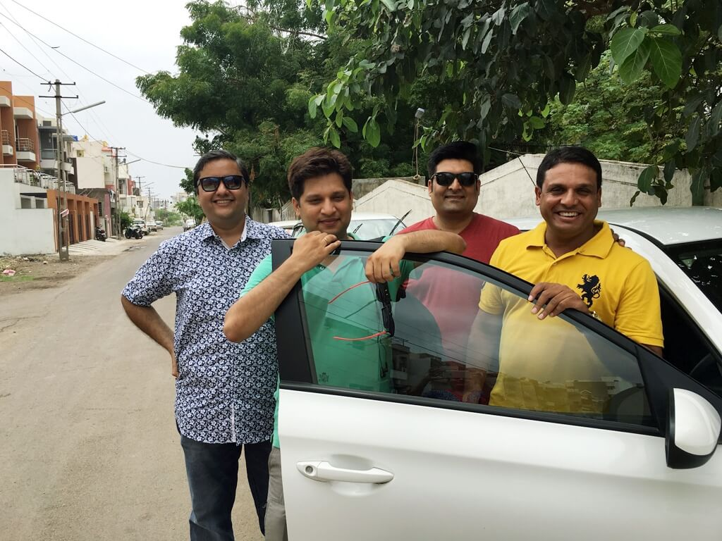 Started from Rajkot. In Anshu's new i20. Drove this new model for the first time. It is probably the best hatchback in its segment.